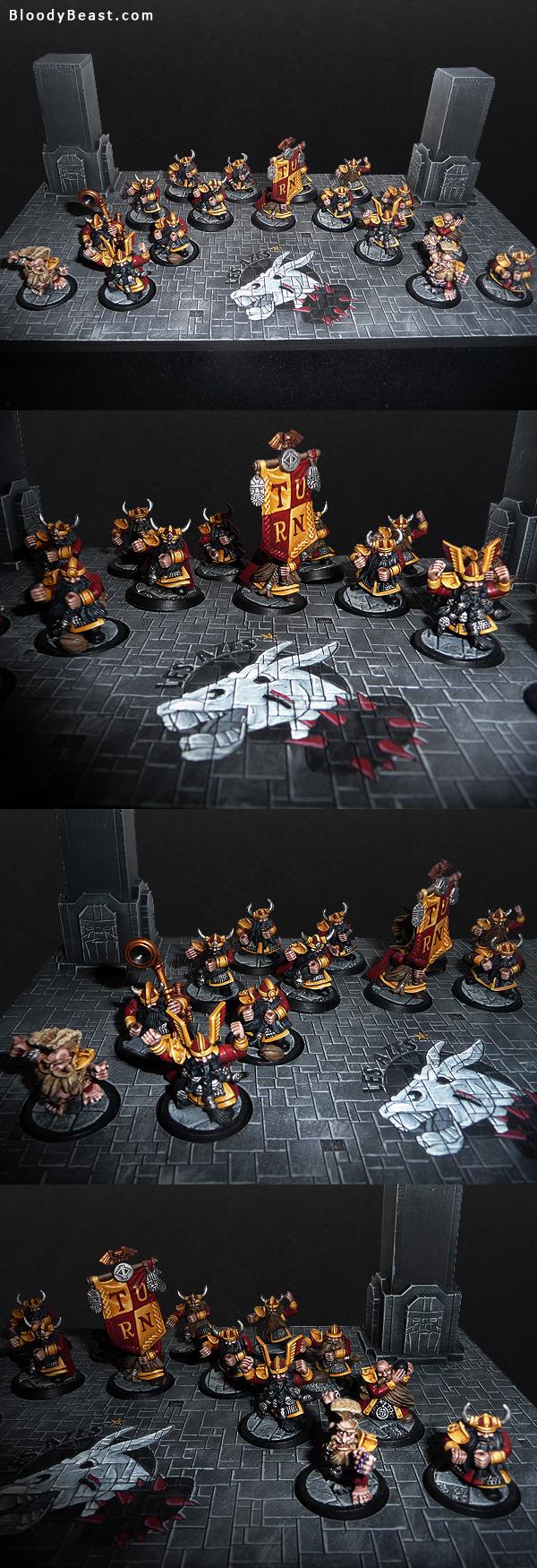 Dungeon Bowl Dwarf Team on Display Base