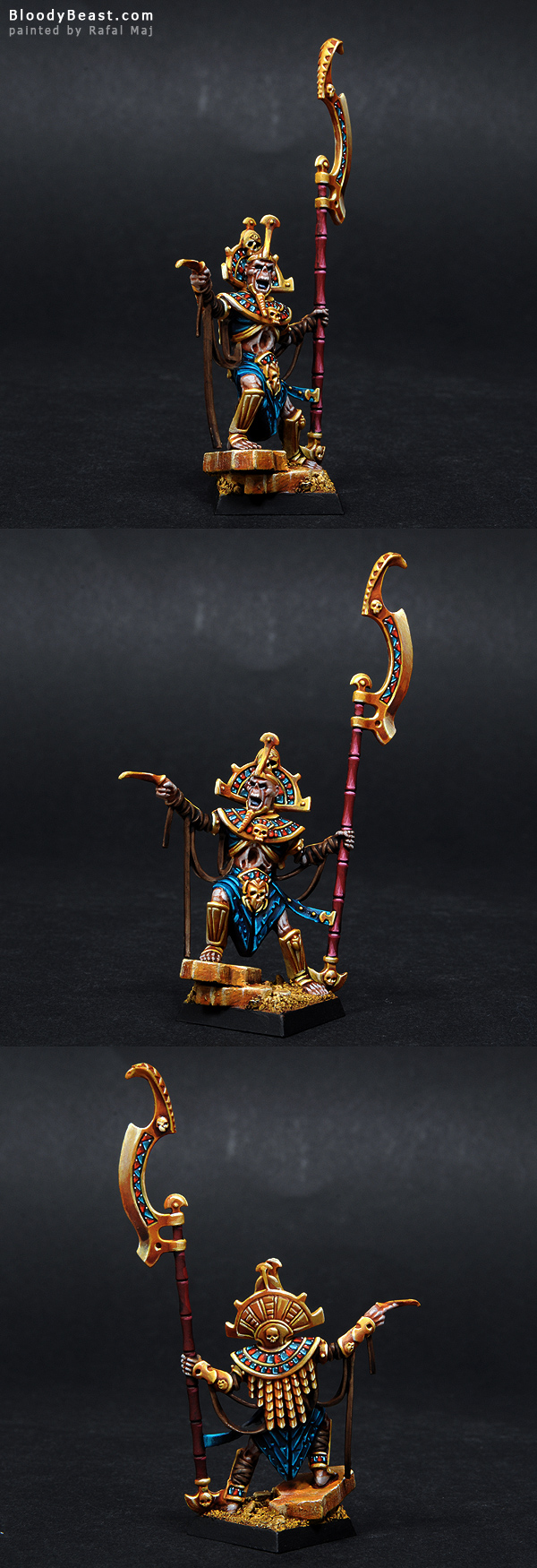 Tomb King with Great Weapon painted by Rafal Maj (BloodyBeast.com)