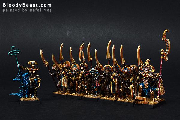 Tomb Kings Warband painted by Rafal Maj (BloodyBeast.com)