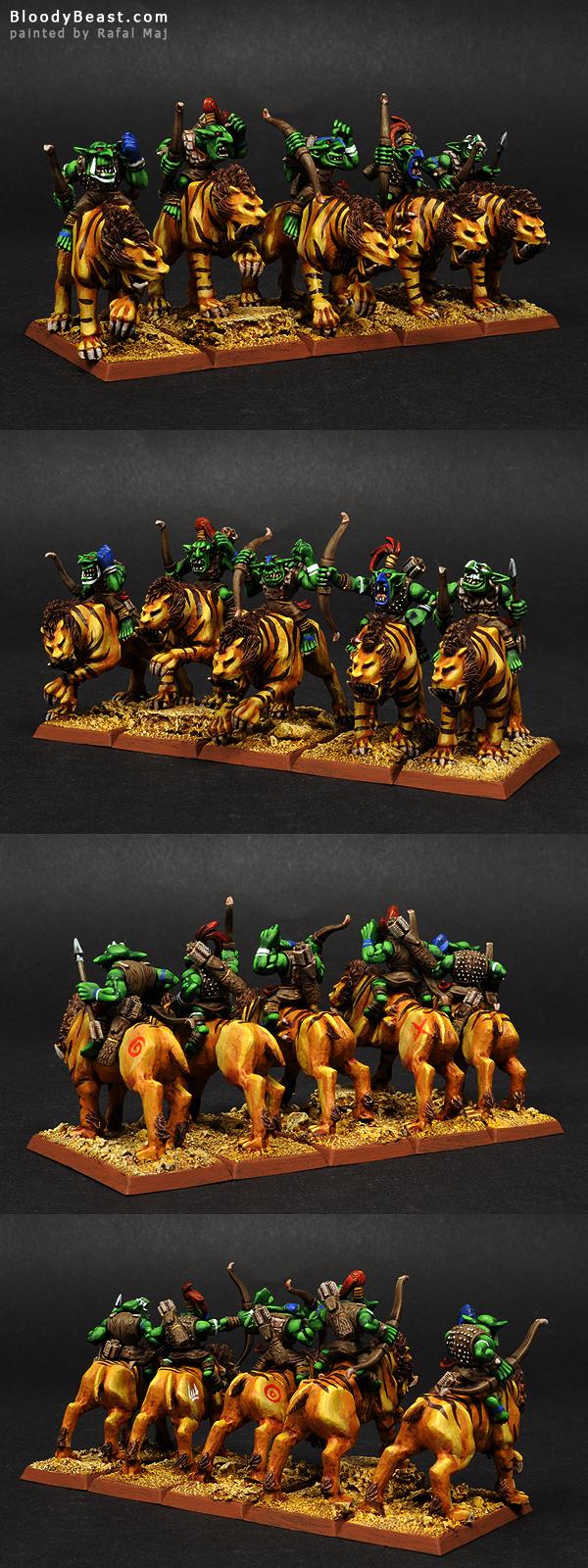 Savage Goblins Sabertusk Riders painted by Rafal Maj (BloodyBeast.com)