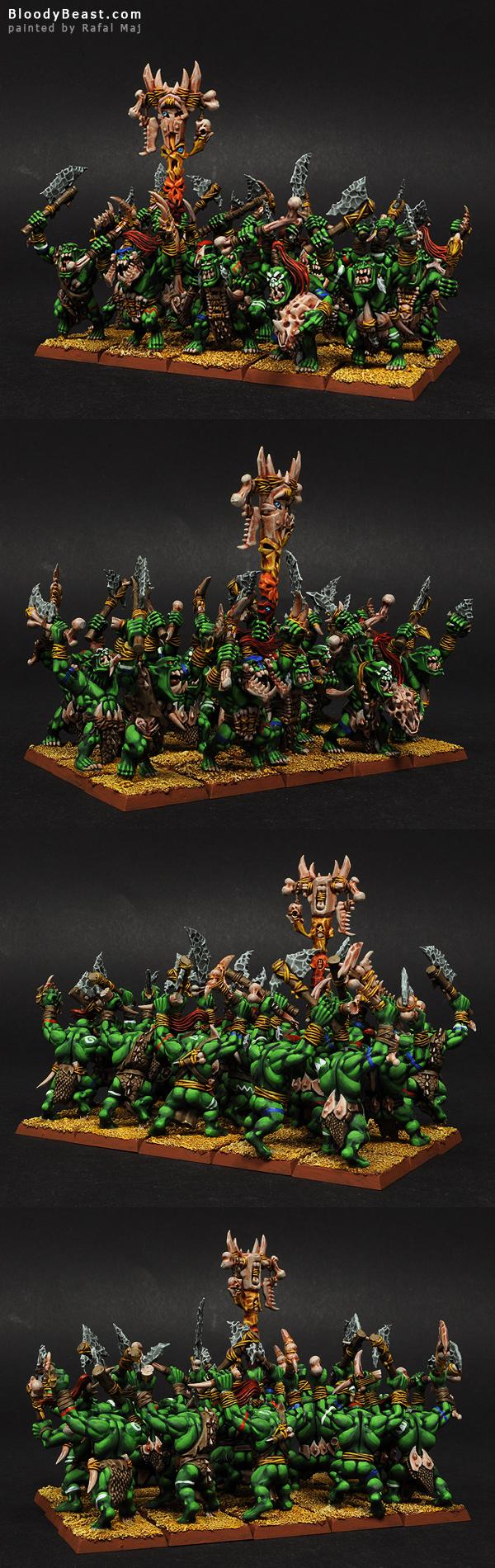 Savage Orcs painted by Rafal Maj (BloodyBeast.com)