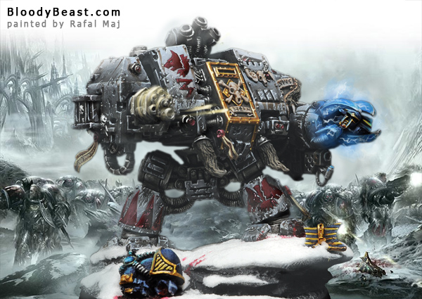 Space Wolves Bjorn The Fell-Handed Scene painted by Rafal Maj (BloodyBeast.com)