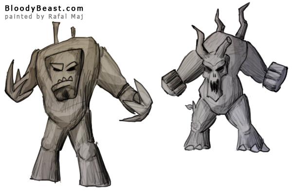 Treekin Concept painted by Rafal Maj (BloodyBeast.com)