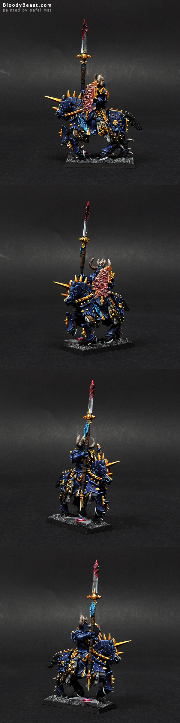 Chaos Knight of Tzeentch painted by Rafal Maj (BloodyBeast.com)