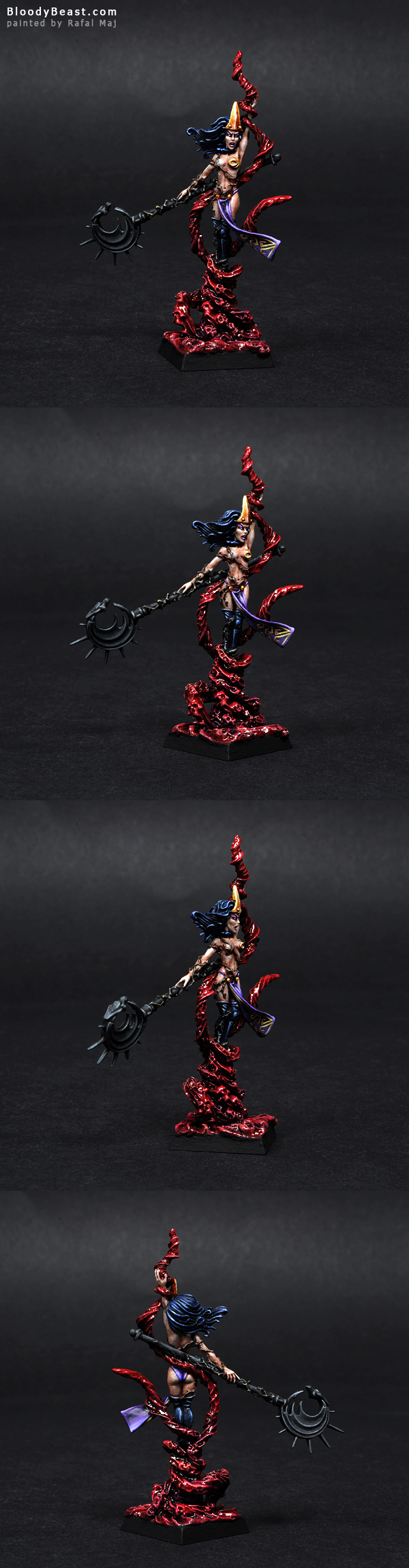Dark Elves Supreme Sorceress painted by Rafal Maj (BloodyBeast.com)