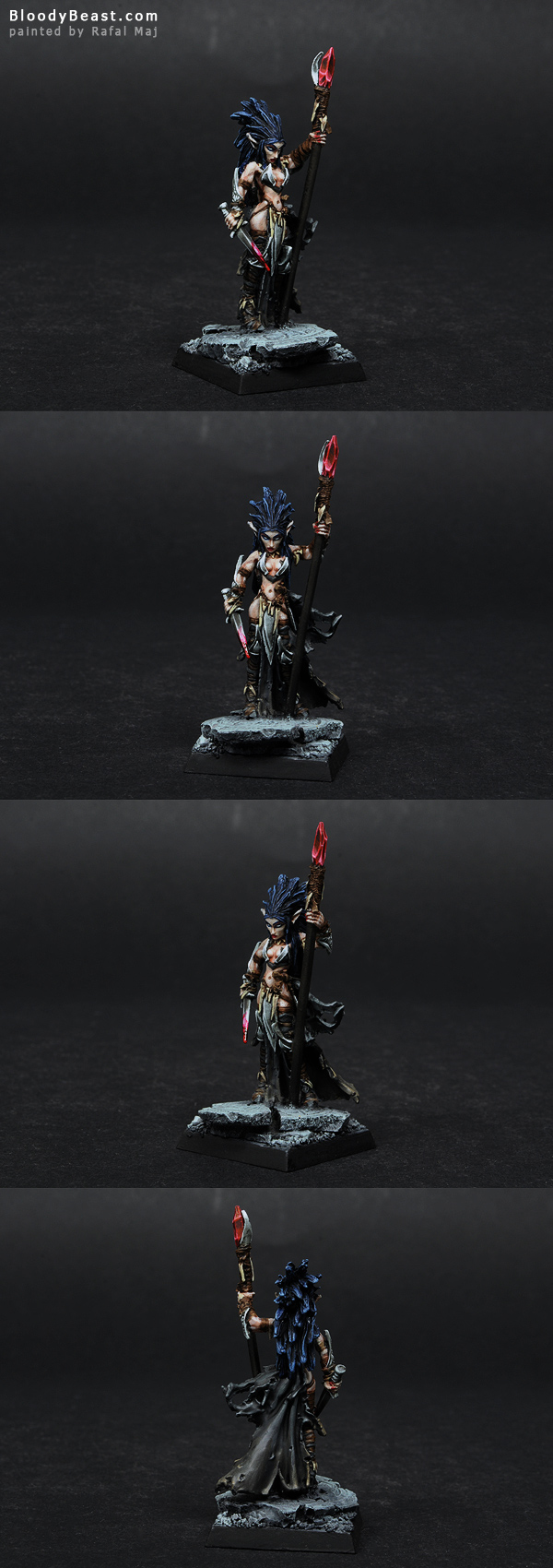 Darkreach Liela Mordollwen Sorceress painted by Rafal Maj (BloodyBeast.com)