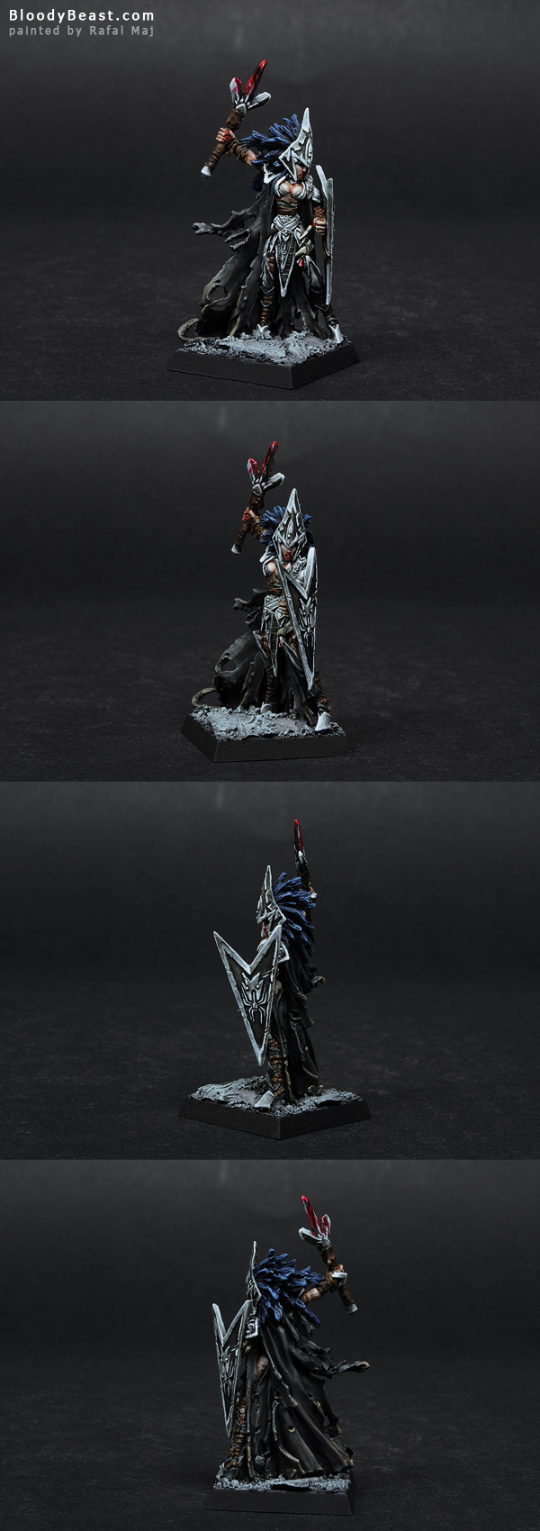 Darkreach Tierdeleira Priestess painted by Rafal Maj (BloodyBeast.com)