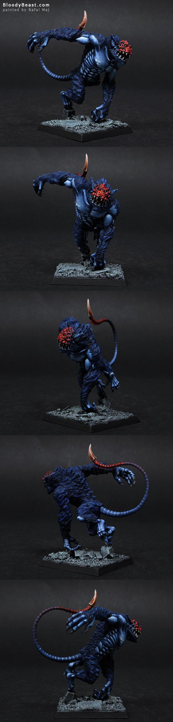 Dark Eldar Clawed Fiend as Darkreach Zeshin Nightcreeper painted by Rafal Maj (BloodyBeast.com)