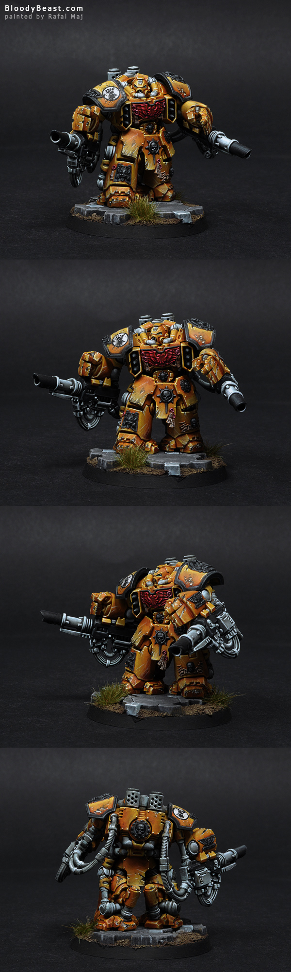 Imperial Fists Centurion Devastator painted by Rafal Maj (BloodyBeast.com)