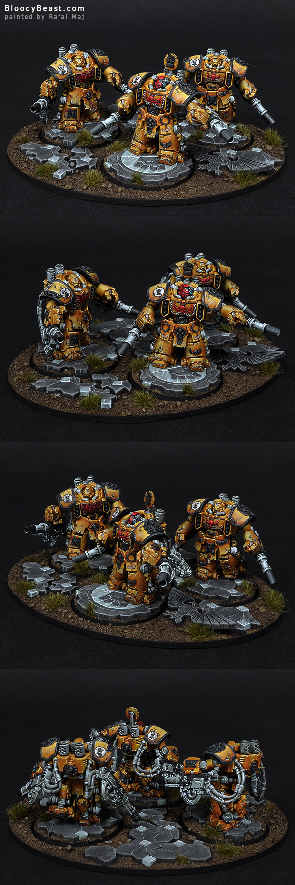 Imperial Fists Centurion Devastator Squad painted by Rafal Maj (BloodyBeast.com)