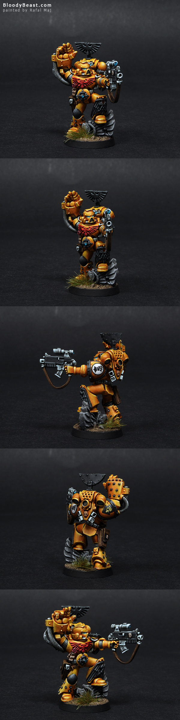 Imperial Fists Sergeant painted by Rafal Maj (BloodyBeast.com)