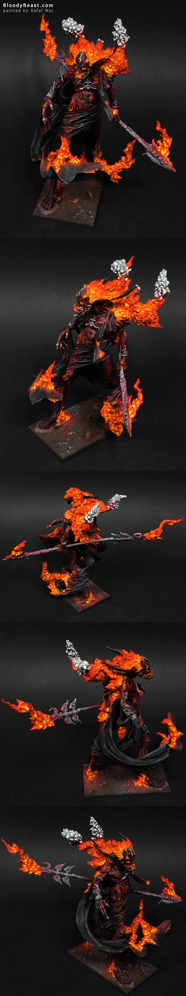 Incarnate Elemental Of Fire painted by Rafal Maj (BloodyBeast.com)