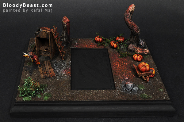 Display Base for Incarnate Elemental Of Fire painted by Rafal Maj (BloodyBeast.com)