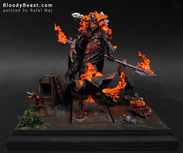 Incarnate Elemental of Fire Scene painted by Rafal Maj (BloodyBeast.com)