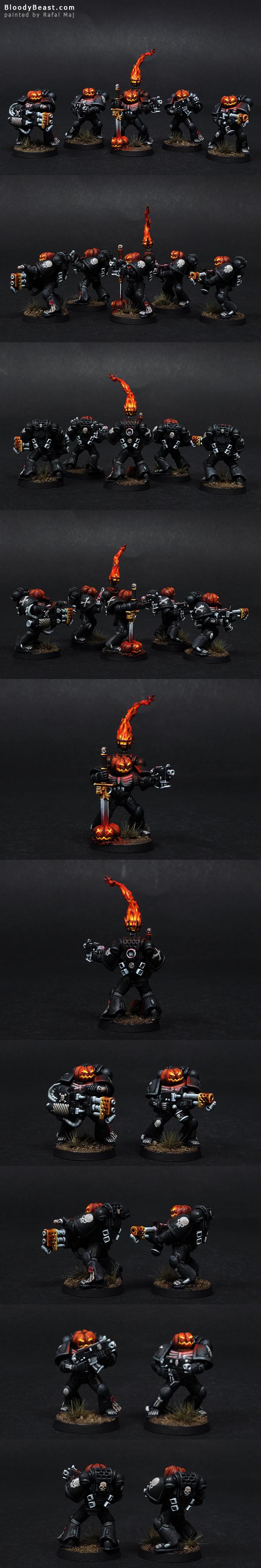 Legion Of The Damned Pumpkin painted by Rafal Maj (BloodyBeast.com)