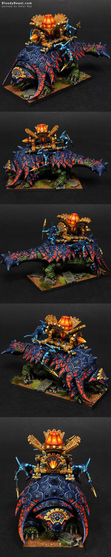 Lizardmen Bastiladon with Solar Engine painted by Rafal Maj (BloodyBeast.com)
