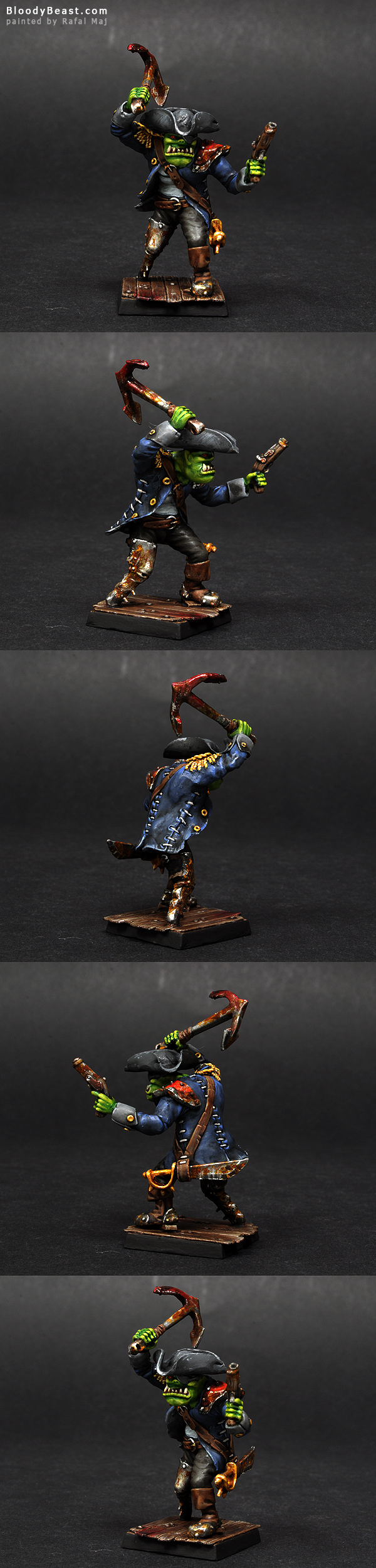 Goblinaid Pirate Orc Boss painted by Rafal Maj (BloodyBeast.com)