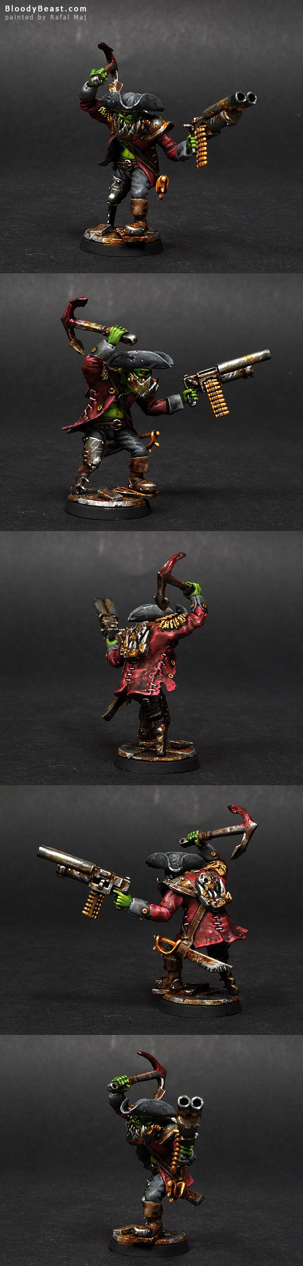 Goblinaid Freebooter Ork Nob painted by Rafal Maj (BloodyBeast.com)