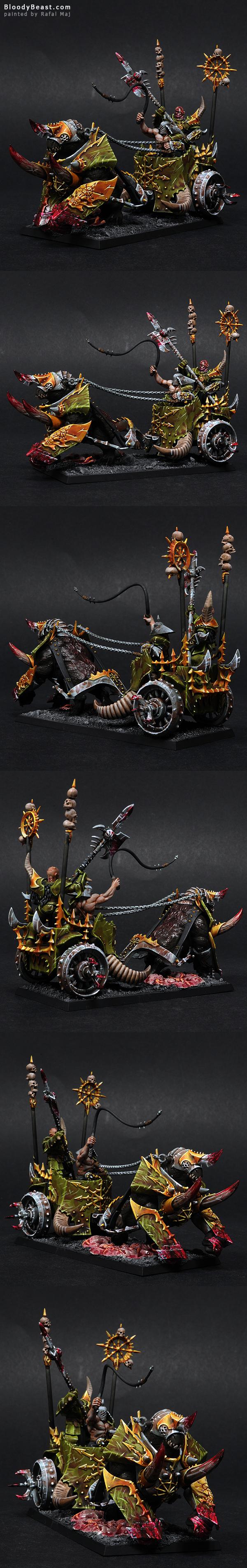 Gorebeast Chariot of Nurgle painted by Rafal Maj (BloodyBeast.com)