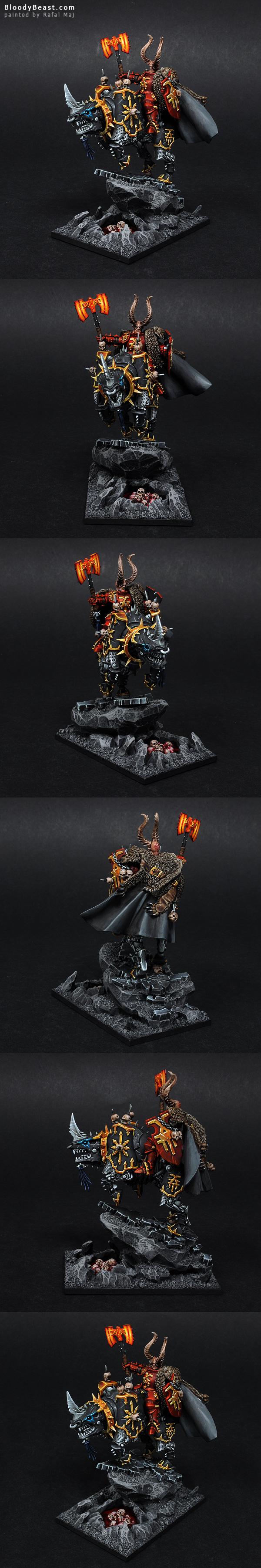 Chaos Khorne Lord on Juggernaut painted by Rafal Maj (BloodyBeast.com)