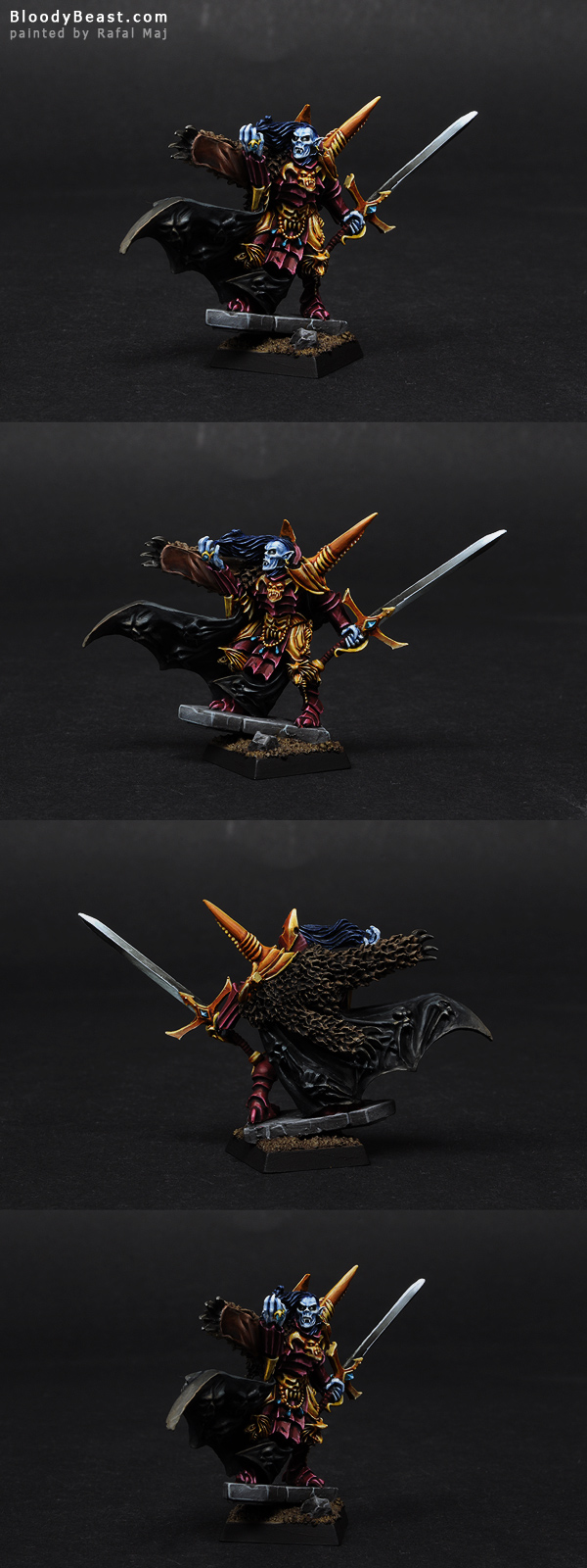 Vampire Counts Vlad Von Carstein painted by Rafal Maj (BloodyBeast.com)
