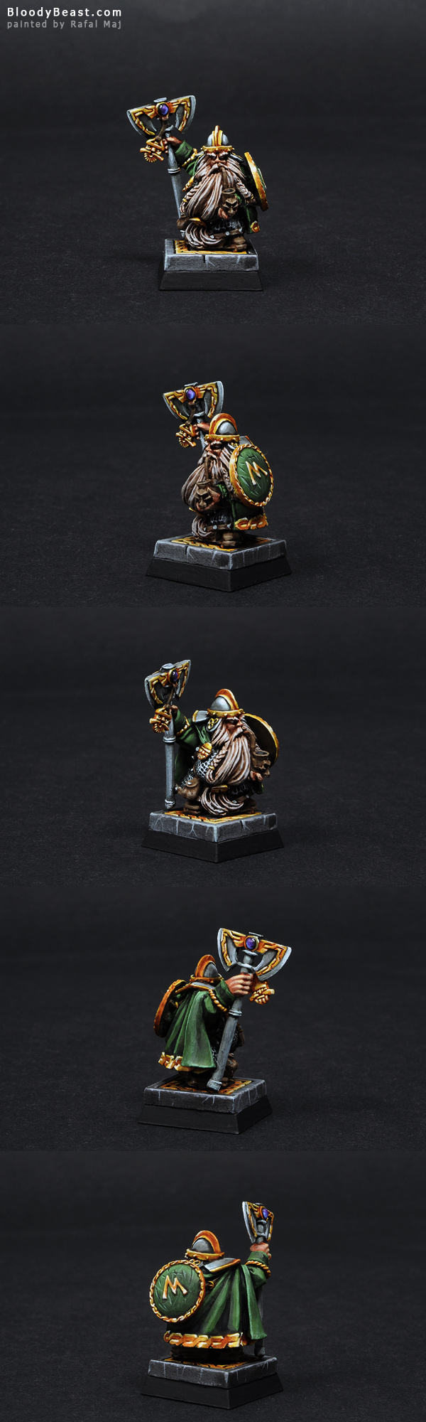 Dwarf Champion painted by Rafal Maj (BloodyBeast.com)