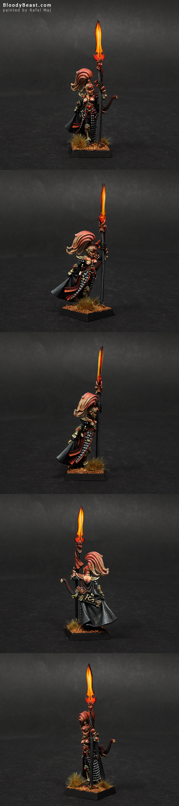 High Elf Handmaiden Of The Everqueen painted by Rafal Maj (BloodyBeast.com)