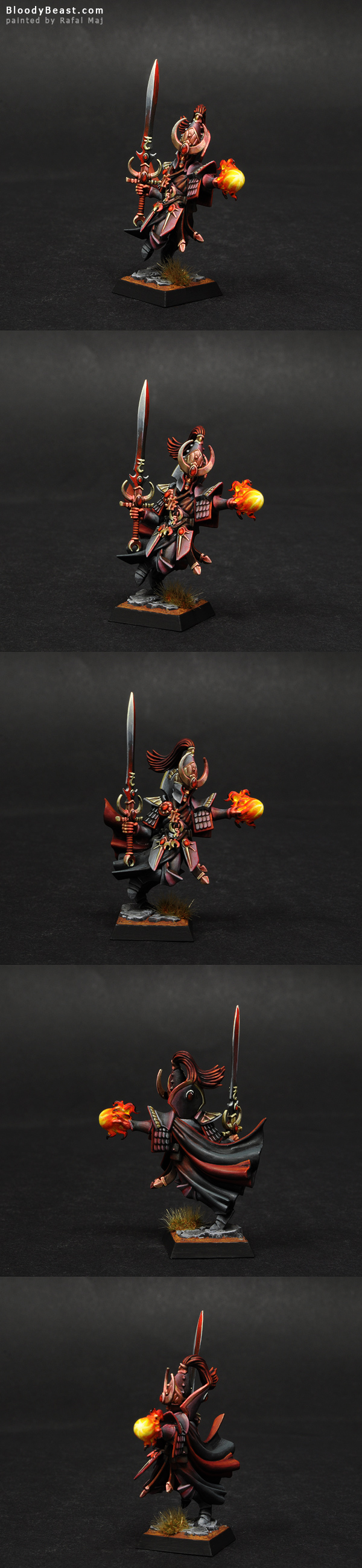 High Elf Loremaster of Hoeth painted by Rafal Maj (BloodyBeast.com)