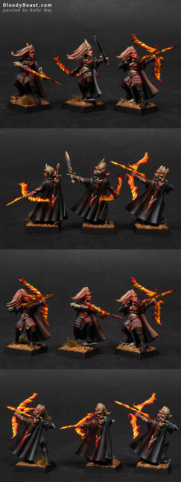 High Elf Sisters of Avelorn painted by Rafal Maj (BloodyBeast.com)