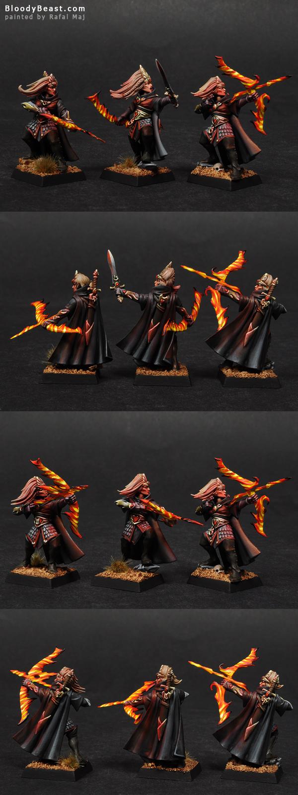 High Elf Sisters of Avelorn painted by Rafal Maj (BloodyBeast.com)