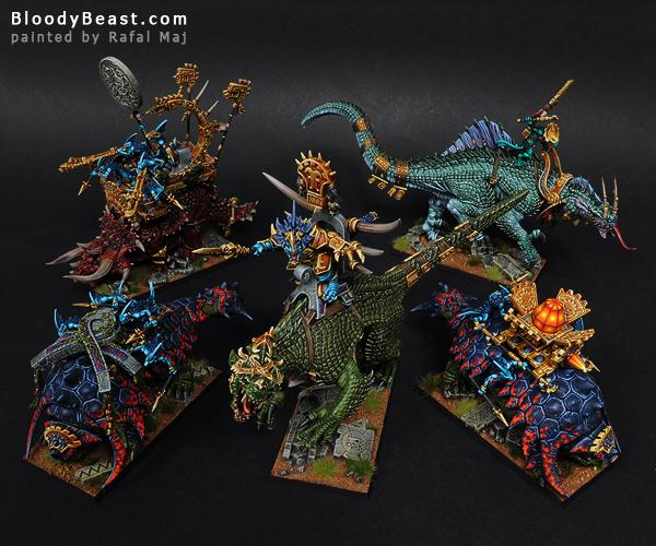 Lizardmen Monsters painted by Rafal Maj (BloodyBeast.com)