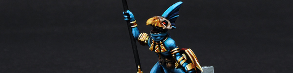 Lizardmen Skink Battle Standard Bearer