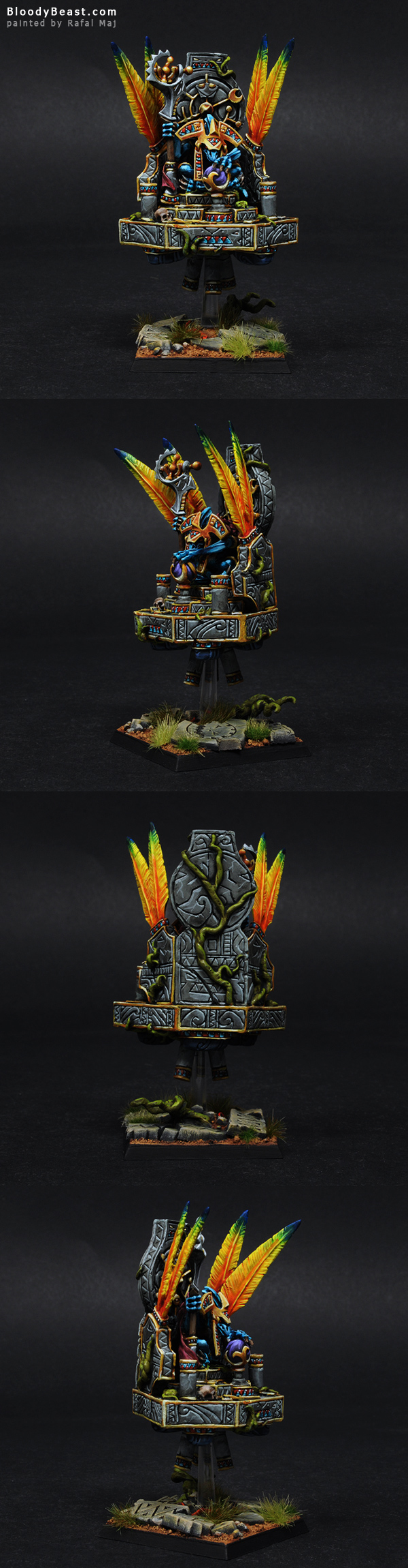 Lizardmen Tetto'Eko painted by Rafal Maj (BloodyBeast.com)
