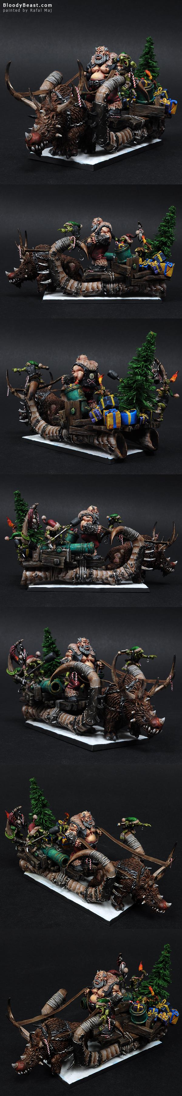 Badass Santa Ogre painted by Rafal Maj (BloodyBeast.com)