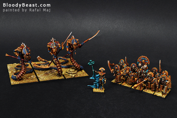Tomb Kings Warband painted by Rafal Maj (BloodyBeast.com)