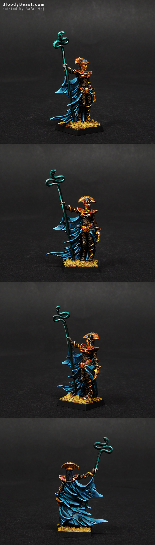 Tomb Kings Queen Khalida painted by Rafal Maj (BloodyBeast.com)