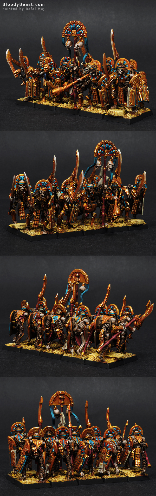 Tomb Kings Tomb Guards painted by Rafal Maj (BloodyBeast.com)