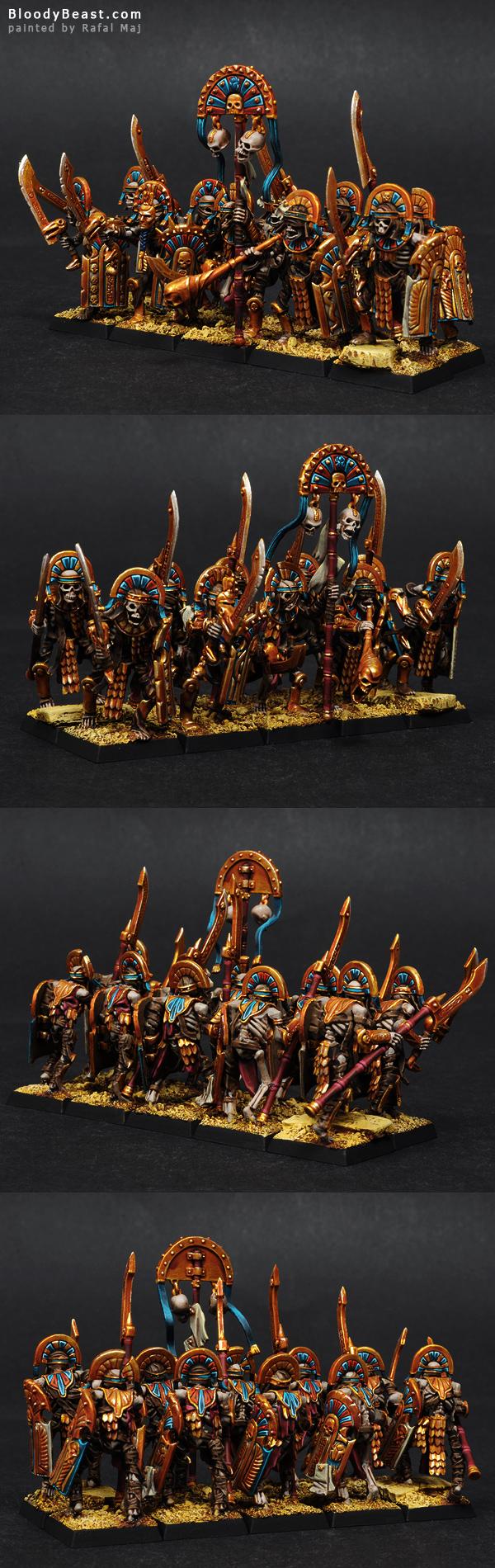 Tomb Kings Tomb Guards painted by Rafal Maj (BloodyBeast.com)