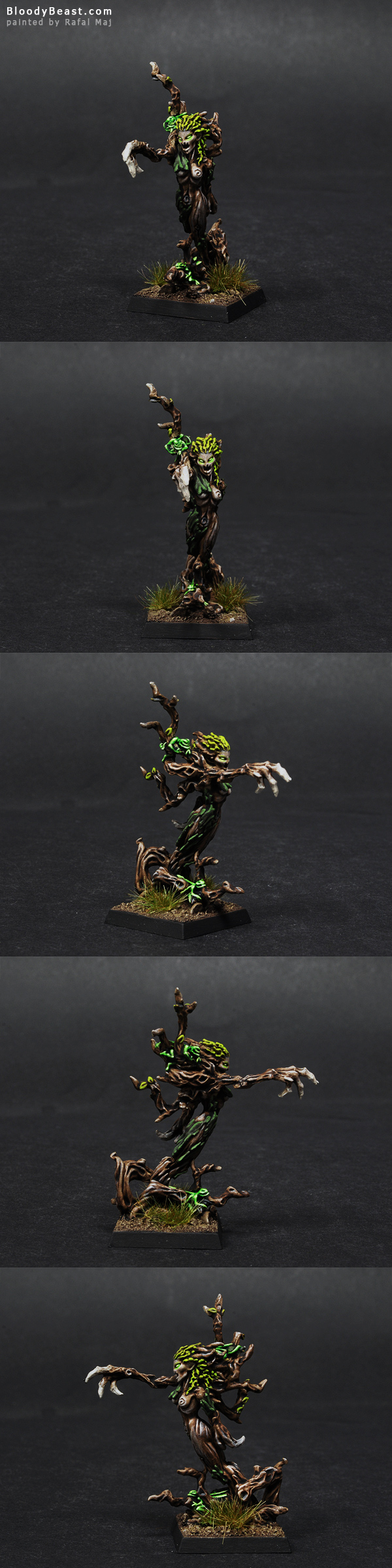 Wood Elf Drycha, Branchwraith painted by Rafal Maj (BloodyBeast.com)