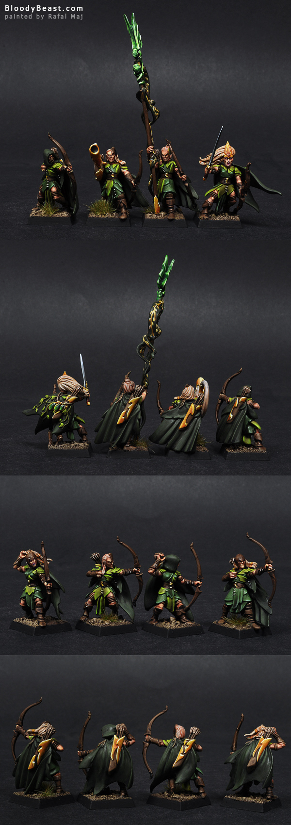 Wood Elf Glade Guards painted by Rafal Maj (BloodyBeast.com)
