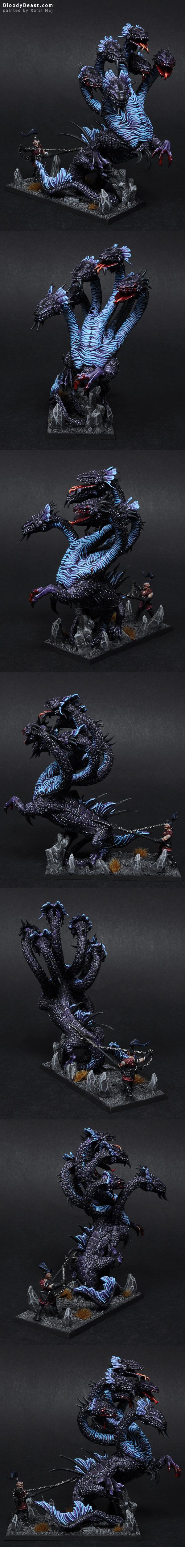 Dark Elves War Hydra painted by Rafal Maj (BloodyBeast.com)