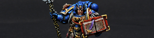 Space Marine Librarian with Staff & Book