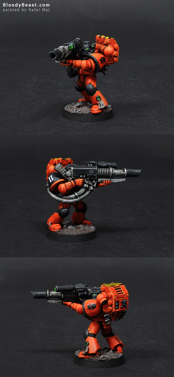 Astral Tiger Devastator Space Marine with Lascannon painted by Rafal Maj (BloodyBeast.com)