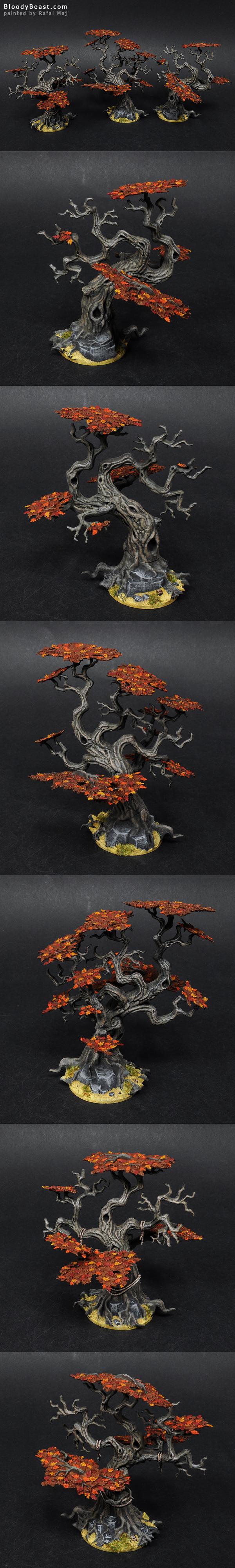 Citadel Wood Trees painted by Rafal Maj (BloodyBeast.com)