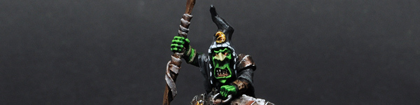 Night Goblin Big Boss on Great Cave Squig
