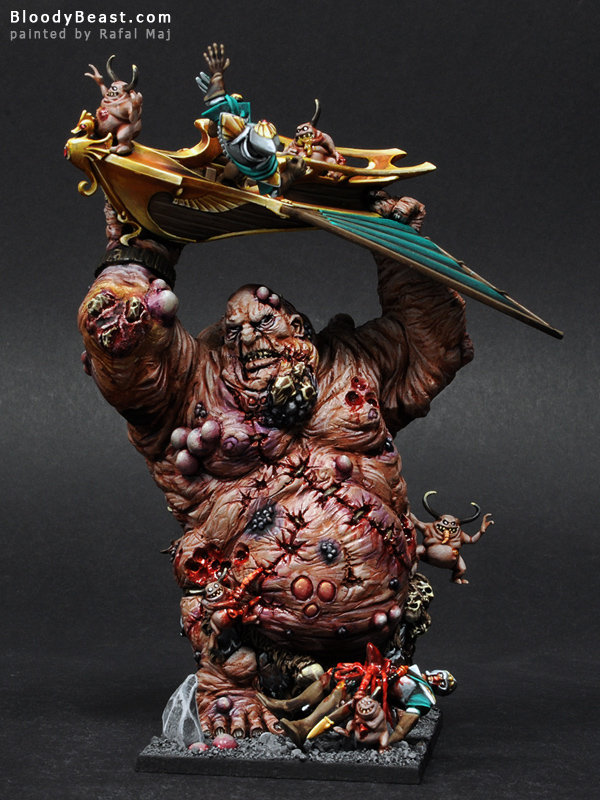 Chaos Giant with Mark of Nurgle Front painted by Rafal Maj (BloodyBeast.com)