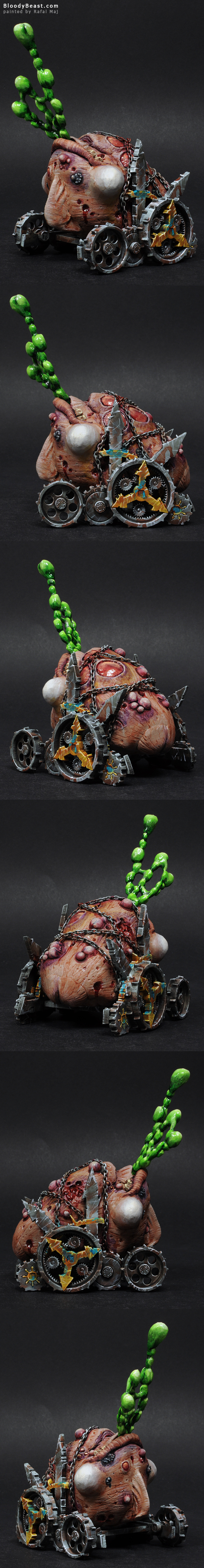 Nurgle Hellcannon painted by Rafal Maj (BloodyBeast.com)