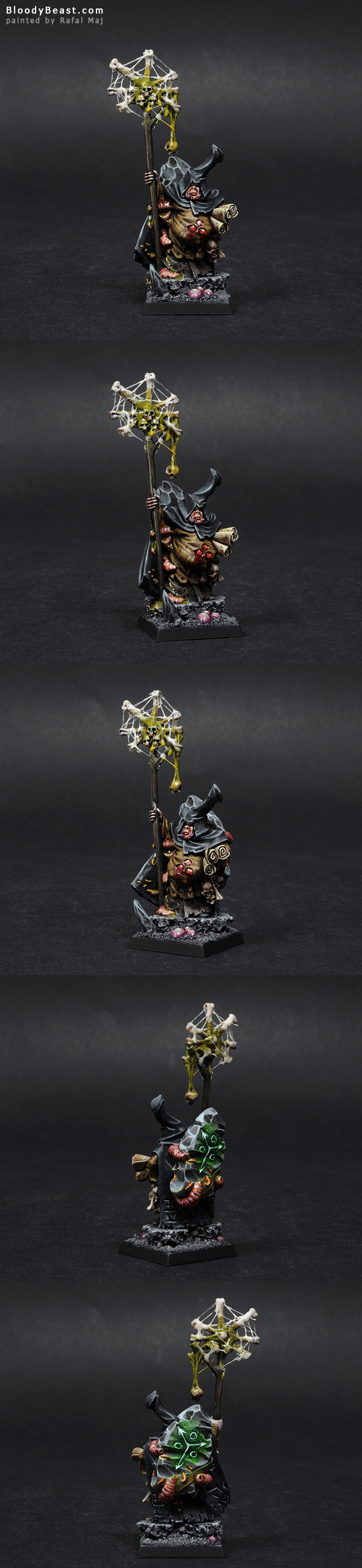 Nurgle Sorcerer painted by Rafal Maj (BloodyBeast.com)