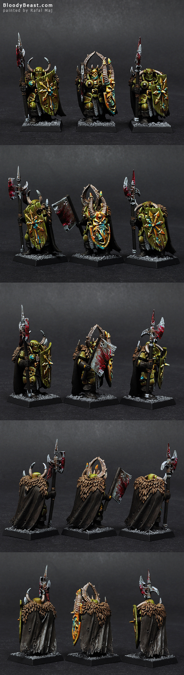 Nurgle Warriors of Chaos painted by Rafal Maj (BloodyBeast.com)