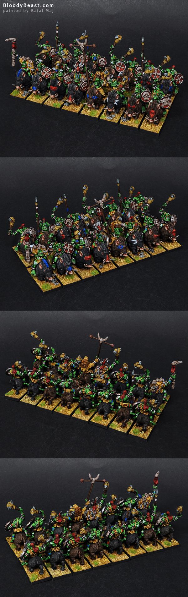 Savage Orc Boar Boyz painted by Rafal Maj (BloodyBeast.com)